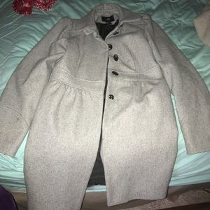 Gray Long Peacoat
